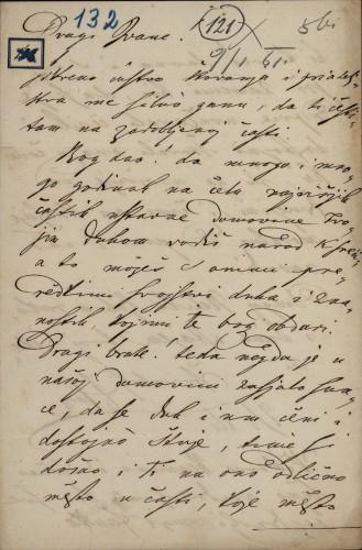 132 | Pismo Janka Cara Ivanu Kukuljeviću