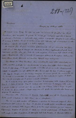 1226   Pismo Giuseppea Valentinellia Ivanu Kukuljeviću