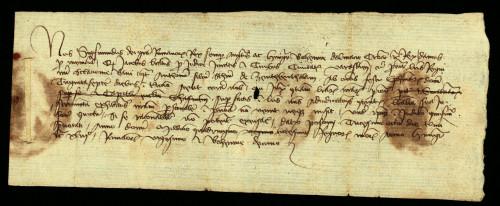 V-48: Kralj Sigismund osuđuje radi ogluhe Antuna, sina Stjepana od Bartolovca, u parnici s gradom Varaždinom