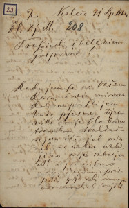 23 | Pismo Ivana Antunovića Ivanu Kukuljeviću