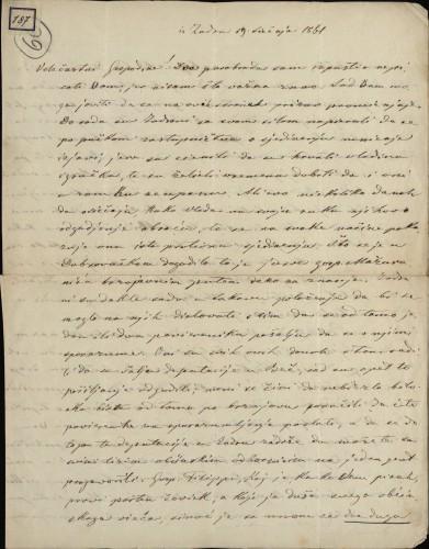 187   Pismo Ivana Danila Ivanu Kukuljeviću