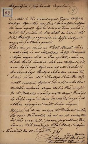 43 | Pismo Angelika Bedenika Ivanu Kukuljeviću