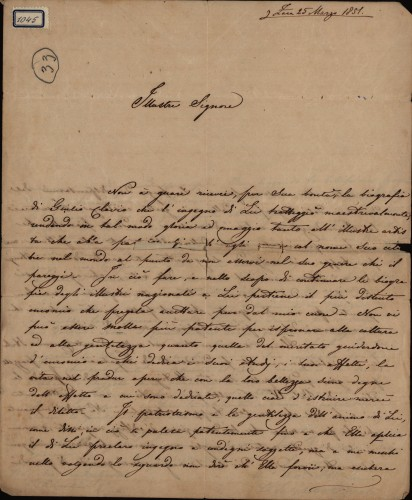 1045 | Pismo Francesca Salgetti-Driolia Ivanu Kukuljeviću