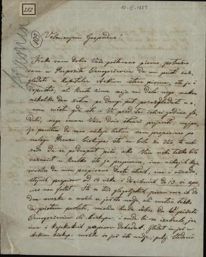 252 | Pismo Ivana Fiamina Ivanu Kukuljeviću