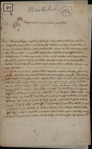 41 | Pismo Ignjata Bartulića Ivanu Kukuljeviću