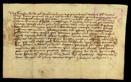 VI-62: Kralj Sigismund odgađa rješenje parnice izmđu grada Varaždina te sinova Herka od Zajezde i drugih plemića iz varaždinske žuapnije do svoga povratka iz Njemačke.