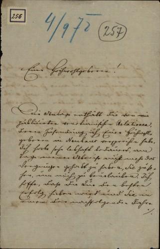 256 | Pismo Josipa Fiedlera Ivanu Kukuljeviću