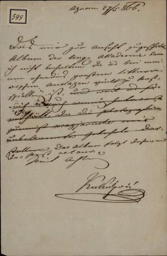 599 | Koncept pisma Ivana Kukuljevića