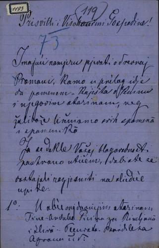 1193 | Pismo Grgura Urlić-Ivanovića Ivanu Kukuljeviću