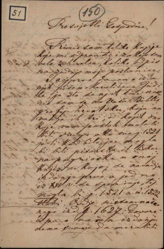 51   Pismo Ivana Berčića Ivanu Kukuljeviću