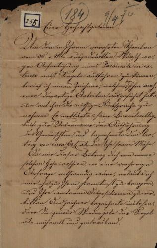 255 | Pismo Josipa Fiedlera Ivanu Kukuljeviću