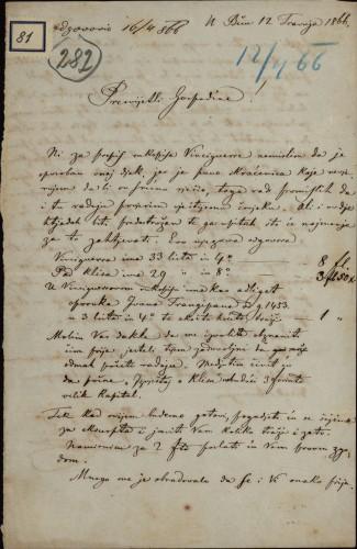 81 | Pismo Valtazara Bogišića Ivanu Kukuljeviću