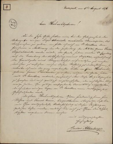 4 | Pismo Gustava Altenburgera Ivanu Kukuljeviću