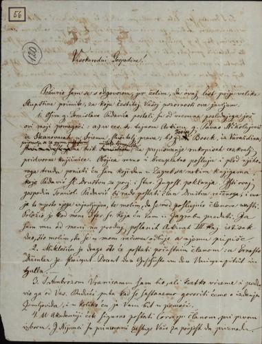 56 | Pismo Andrije Berlića Torkvata Ivanu Kukuljeviću