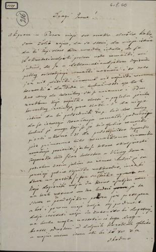 1139   Pismo Škendera Šimunčića Ivanu Kukuljeviću