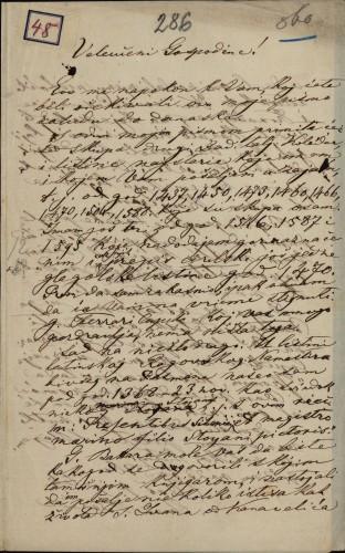 48 | Pismo Ivana Berčića Ivanu Kukuljeviću