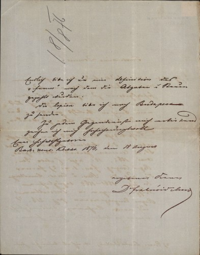 264 | Pismo dr. Vilmoša Fraknoi Ivanu Kukuljeviću