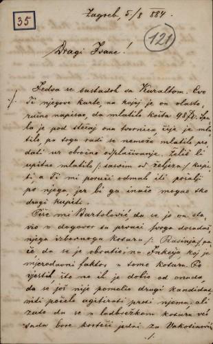 35 | Pismo Nikole Badovinca Ivanu Kukuljeviću