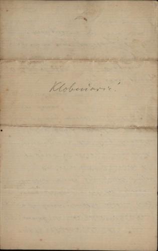 465 | Pismo Dragutina Klobučarića Ivanu Kukuljeviću