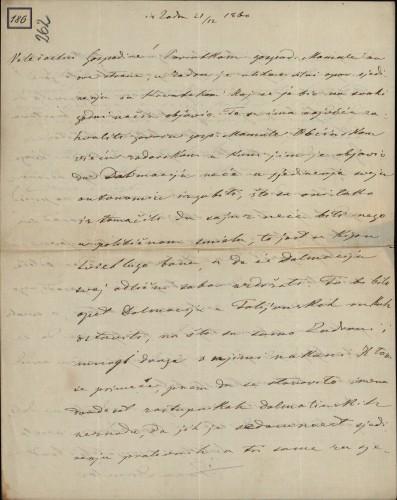 186   Pismo Ivana Danila Ivanu Kukuljeviću