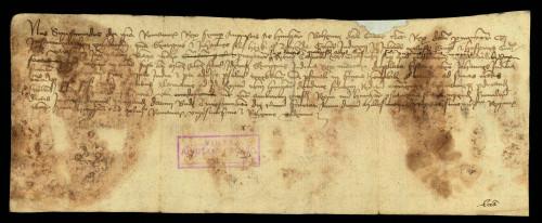 VI-66: Kralj Sigismund odgađa do svog povratka iz Njemačke predočenje dokumenata Jurja i Ivana sinova Herka od Zajezde, u parnici s gradom Varaždinom.