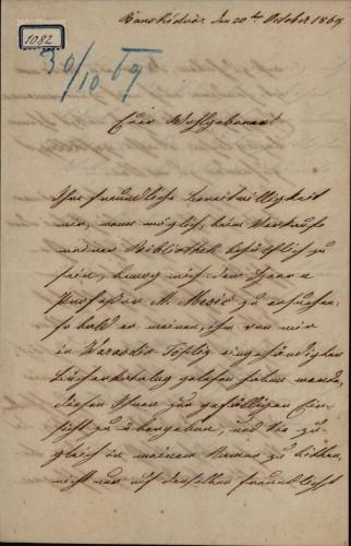 1082   Pismo barona Steiger-Montrichera Ivanu Kukuljeviću